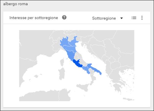 google trends albergo roma in italia